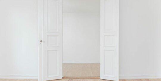 white open interior double doors