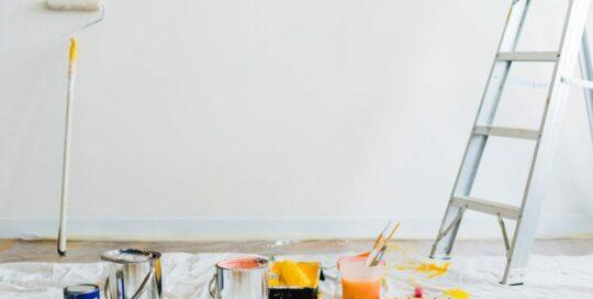 interior paint still life