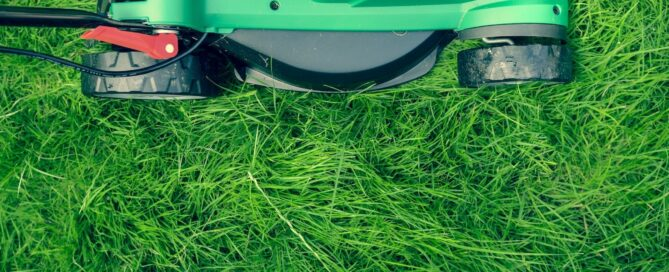 Green Lawn Mower Mowing Green Grass